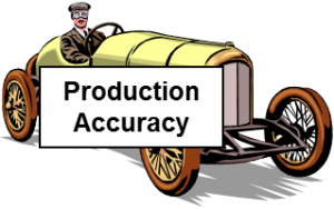production accuracy
